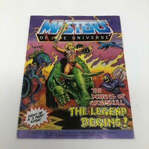 VINTAGE MOTU He-Man Masters of the Universe Mini-Comic book, THE LEGEND BEGINS!