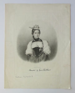 19th-Century-Plate-Print-BERNE-No-2-Engraving-Switzerland-Costume-2-1800s-woman