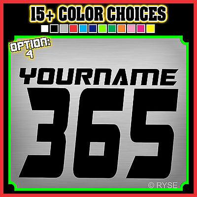 3 Mx Name Number Plate Decals Stickers Atv Sx Bmx Dirt Bike Kart Motorcycle Race Ebay
