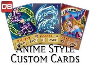 yugioh anime style holo custom cards orica choose your card s