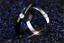 Anello-Anelli-Fedi-Fedine-Cuore-Cristal-Coppia-Fidanzamento-Amore-Love-Incisioni miniatura 1