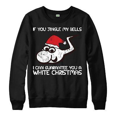 Christmas Jumper Jingle My Bells Xmas Festive Gift Adults /& Kids Jumper Top