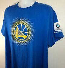 Golden State Warriors Basketball Mens XL Bay Area BMW Logo Giveaway T Shirt Blue