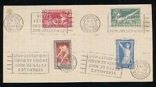 FRANCIA 1924 GIOCHI OLIMPICI Set fu Versailles Slogan MACCHINA feste NUIT si prega