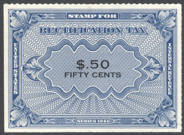Rectification Tax Stamp, Scott RZ6