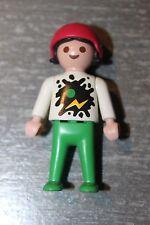 PLAYMOBIL - personnage - fille fillette enfant - loisirs sport casque rose skate