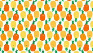 DéVoué Makower Fruité Ananas Orange 100% Tissu De Coton, Demi-mètre, Free P&p,-afficher Le Titre D'origine Moderne Et EléGant à La Mode