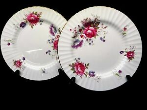 Paragon-Bone-China-England-Rosalee-set-of-2-Salad-Plates
