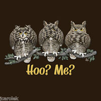 Owl T-shirt Unisex Humor Hoo Me Brown S M L Xl 2xl Cotton Gildan