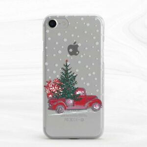 Christmas Winter Red Car Cute Funny Case For iPhone 6S 7 8 Xs XR 11 Pro Plus Max
