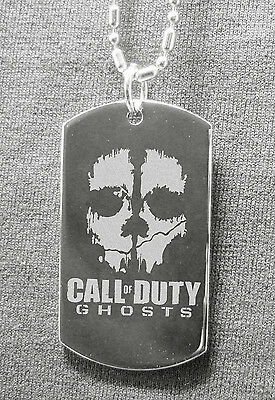 """Call of Duty  /"""" Engraving Necklace Tag /"""" Available Ur text"""