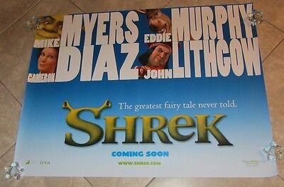 SHREK movie poster MIKE MYERS, CAMERON DIAZ, ANIMATION (advance quad)