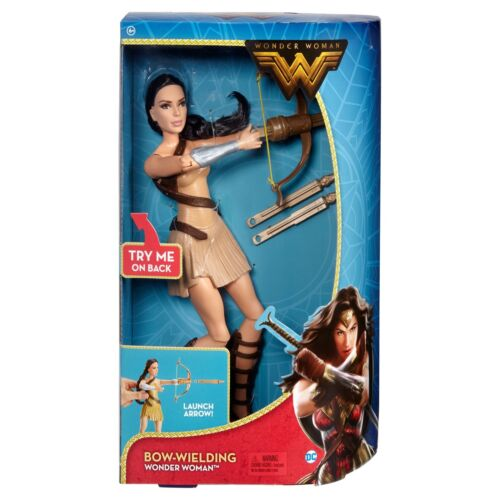 NEW! DC Wonder Woman Bow-Wielding 12 Action Figure. Real Launching Arrows!