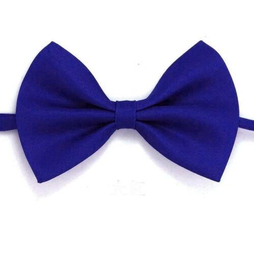 Pajarita Azul Real /> pre-atado Ajustable para Hombre Llano Sólido Inteligente Boda Fiesta