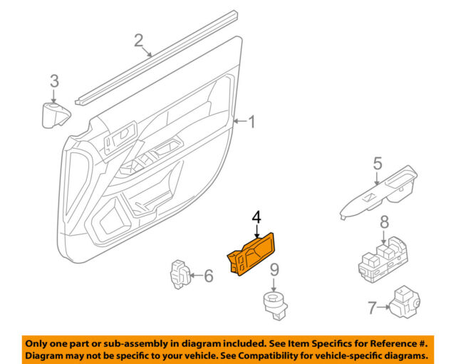 Ford Fusion Front Left Lh Door Handle Bezel Oem 2006 2012 Ebay. Ford Oem Front Doorhandle Bezel Left Ae5z5422621aa. Ford. Dooe Diagram 2006 Ford Fusion At Scoala.co