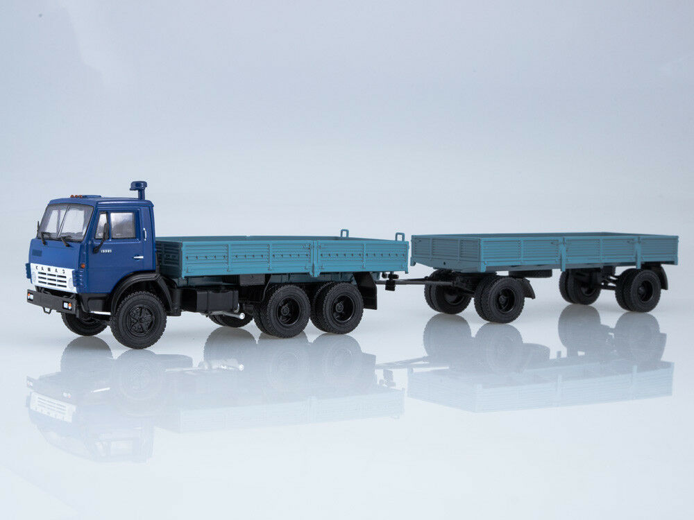 Scale model 1 43 KAMAZ 5320 with trailer GKB-8650