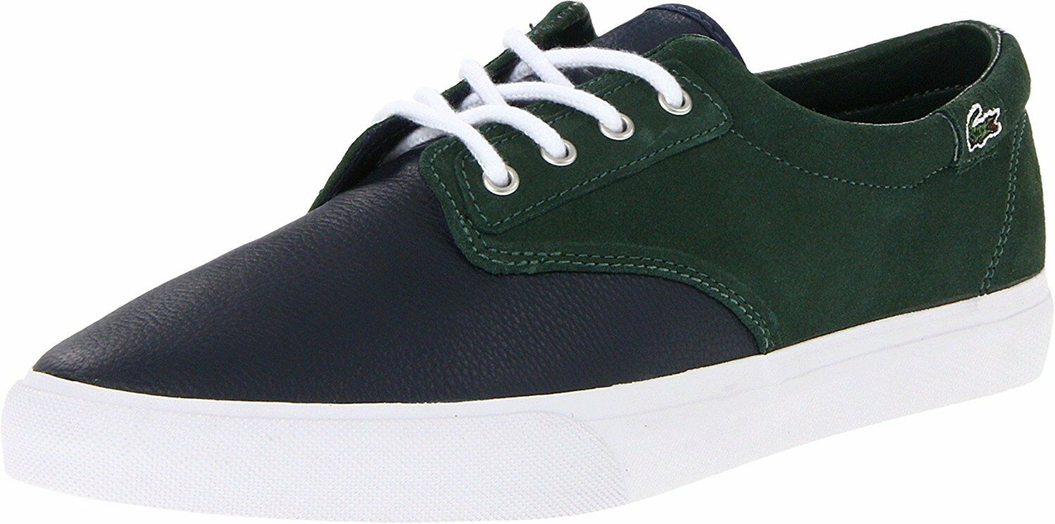 LACOSTE Barbados LMS Blue Green Lace Up  Shoes Uomo 12 NEW IN BOX