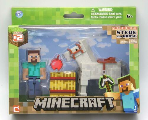 Minecraft 16593 Steve Avec Cheval Blanc Figure Toy Playset