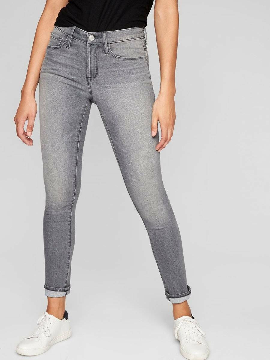 Athleta Sculptek Skinny Jean, Grey Wash, sz 6 Small