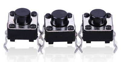 10Pcs Miniature Micro Switch PCB Momentary Tactile Tact Switch Button 6x6x5 mm