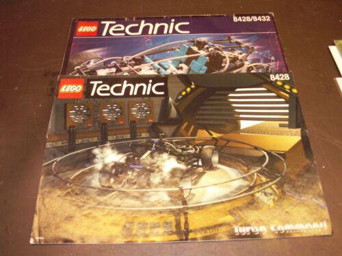 LEGO Technik 8428/8432 & Turbo Command Anleitungen rar VINTAGE gut erhalten LEGO Bauanleitungen