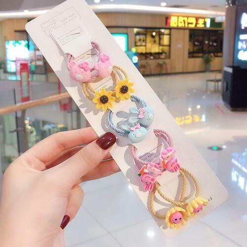 10Pcs//Baby KIds Girls Hair Band Ties Rope Ring Elastic Hairband Ponytail Holder