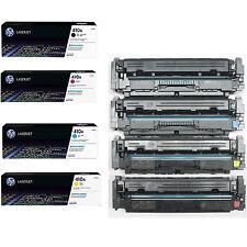 4PK Genuine HP 410A CF410A CF411A CF412A CF413A Introductory Toner Cartridge 80%