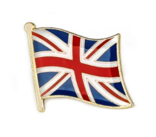 Onda Union Jack 1.6x1.5cm 2D Reino Unido Bandera Broche Insignia Pin de Oro Bolso nos británico