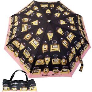 Bustina Profumo 7001 Ombrello Moschino Print Umbrella Con Boutique Nero TF1clJ3K