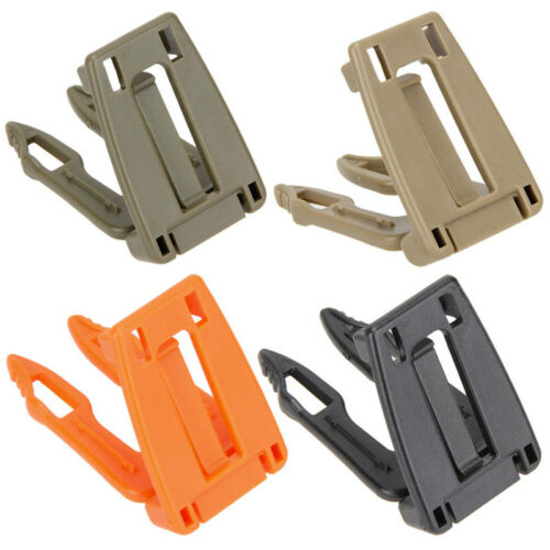 5Pcs Molle Strap Backpack Bag Webbing 30mm Connecting Lock Buckle EDC Clip