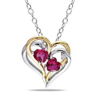 Amour-Two-tone-Silver-Created-Ruby-and-Diamond-Accent-Heart-Necklace