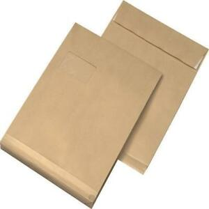 200-Folding-Bags-C4-229x324x20-mm-with-Window-Brown