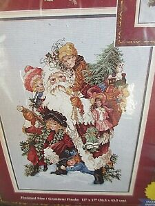 Janlynn-SANTA-amp-FRIENDS-Counted-Cross-Stitch-KIT