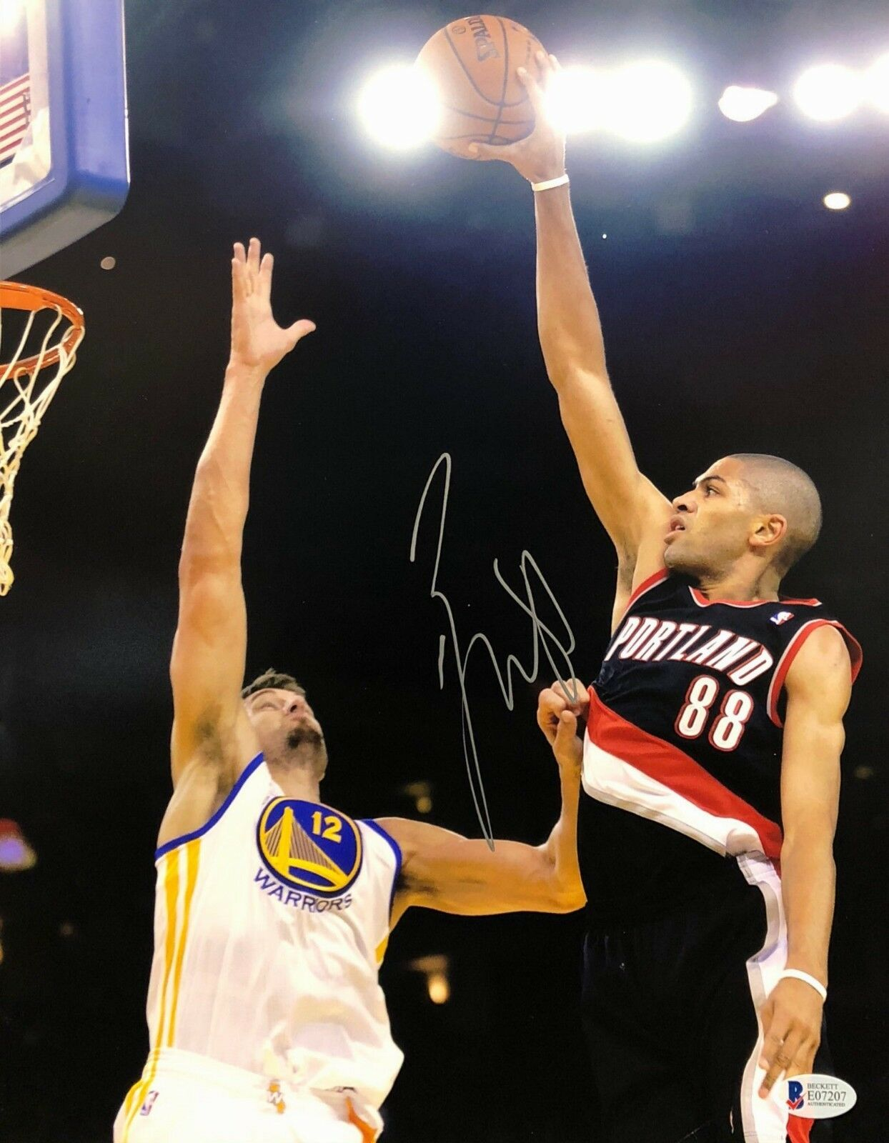 Nicolas Batum Signed Portland Trail Blazers 11x14 Basketball Photo BAS E07207