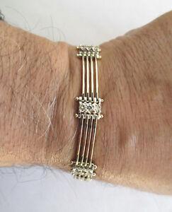 Details about 14K Gold Diamond Bracelet Dia=2 00 Carats G-VS2 7 25