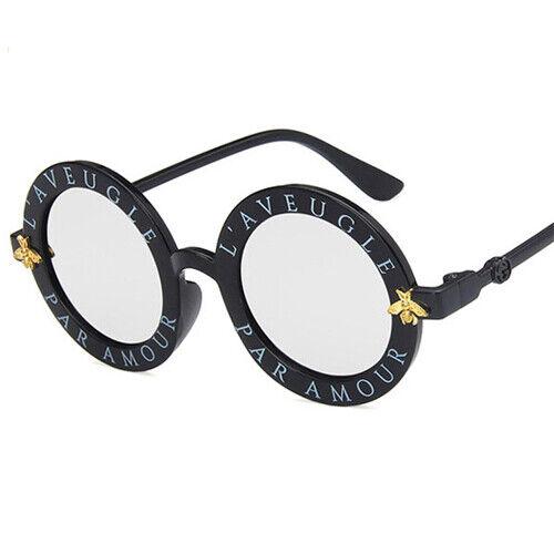 Bee Kids Luxury Vintage Sunglasses Boys Girls Sunglasses Round Sun Glasses