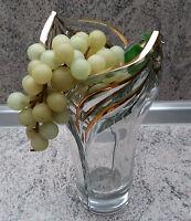 DECO stilvolle Bleikristall Vase Kristallvase mit handbemalten Golddekor NEU***