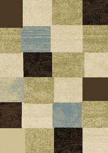 Modern Geometric Squares 2x3 Area Rug Contemporary Carpet