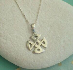 Collar-Colgante-de-plata-esterlina-nudo-celta-Reino-Unido-Vendedor