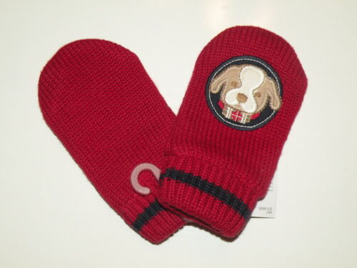 GYMBOREE SKI CABIN RED PUPPY SWEATER MITTENS 0 12 4T 5T NWT