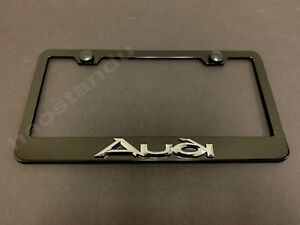 2X Audi S Line 3D Emblem Stainless Steel License Plate Frame Rust Free W//cap