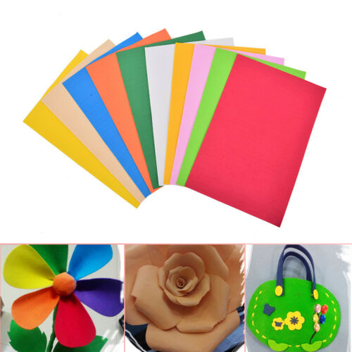 10Pcs//Pack EVA Foam Sheets Handmade Paper Fun Kids Craft Gift 260x185x2mm、Pop
