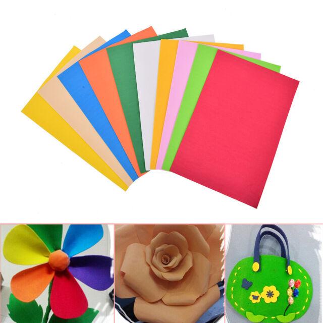 10Pcs/Pack EVA Foam Sheets Handmade Paper Fun Kids Craft Gift 260x185x2mm HC