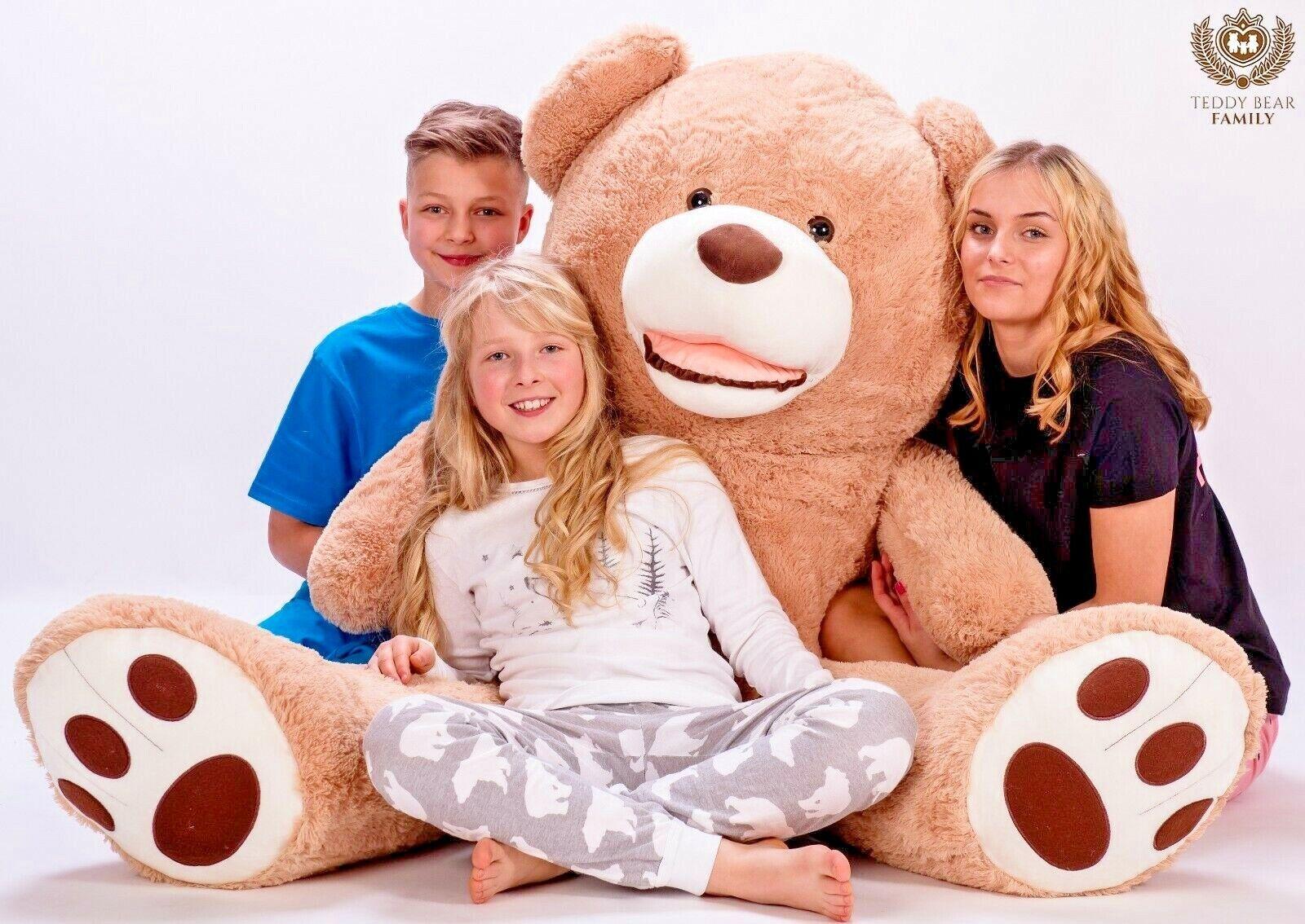 GIANT TEDDY BEAR LARGE BIG HUGE XXL 160cm  63'' BEIGE SOFT PLUSCH TOY STUFFED