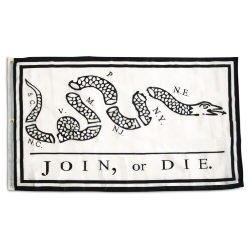 3x5 Embroidered Gadsden Join or Die 300D Nylon Flag 3/'x5/' 3 Clips Heavy Duty