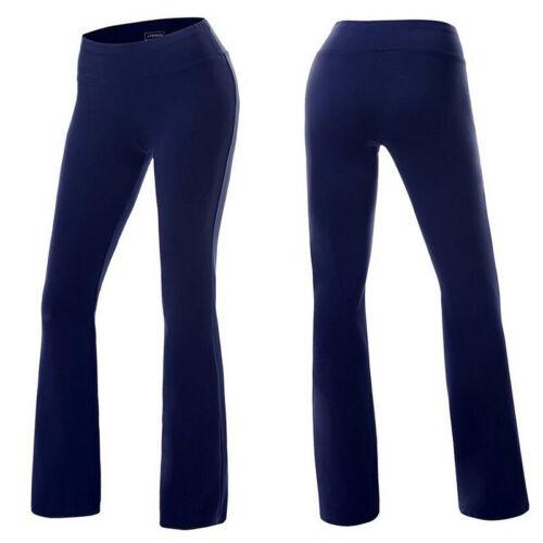 YOGA Pants Women Stretch COTTON Fold Waist Slimming Legging Zenana S M L XL M961