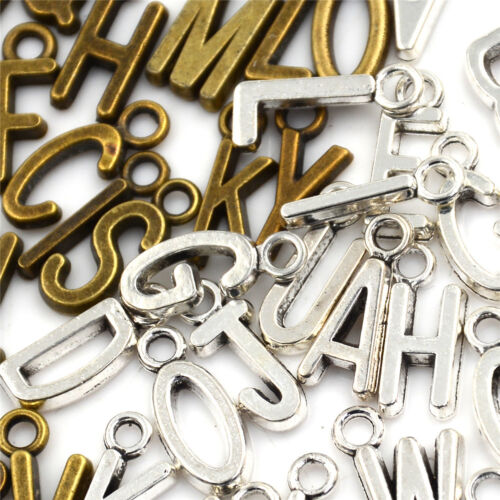 26Pcs//set Latin English Alphabet Letter Charm Pendant Jewelry Bracelet Craft SP