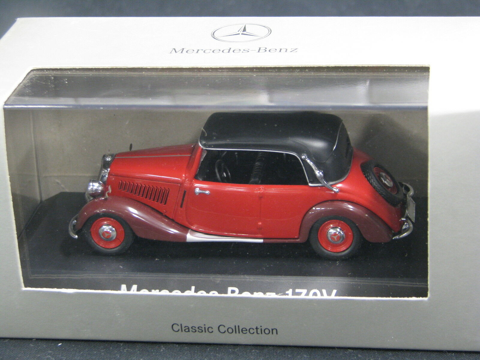 Schuco Mercedes-Benz 170 V Cabriolet Softtop Softtop Softtop 1 43 Red (JS) 18f1a0