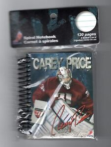 NHL-GOALTENDER-CAREY-PRICE-SPIRAL-NOTEBOOK-SEALED