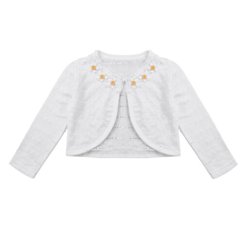 Girl Kids Baby Flower Party Bolero Shrug Jacket Wedding Dress Cover Cardigan Top